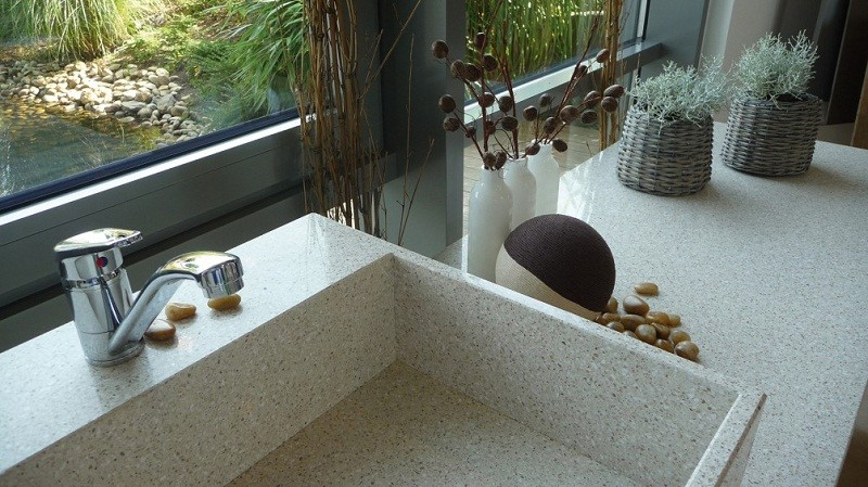 Prefab Quartz Countertops in Scottsdale AZ with Pelleco Home Design
